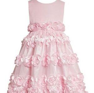 Bonnie Jean Size 5 Rosette Flower Girl Dress